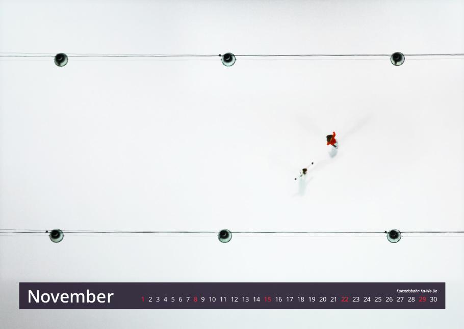 Kunsteisbahn Ka-We-De Bern von oben Kalender