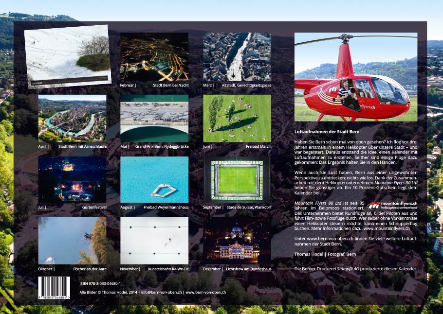 Rückseite Bern von oben Kalender 2015