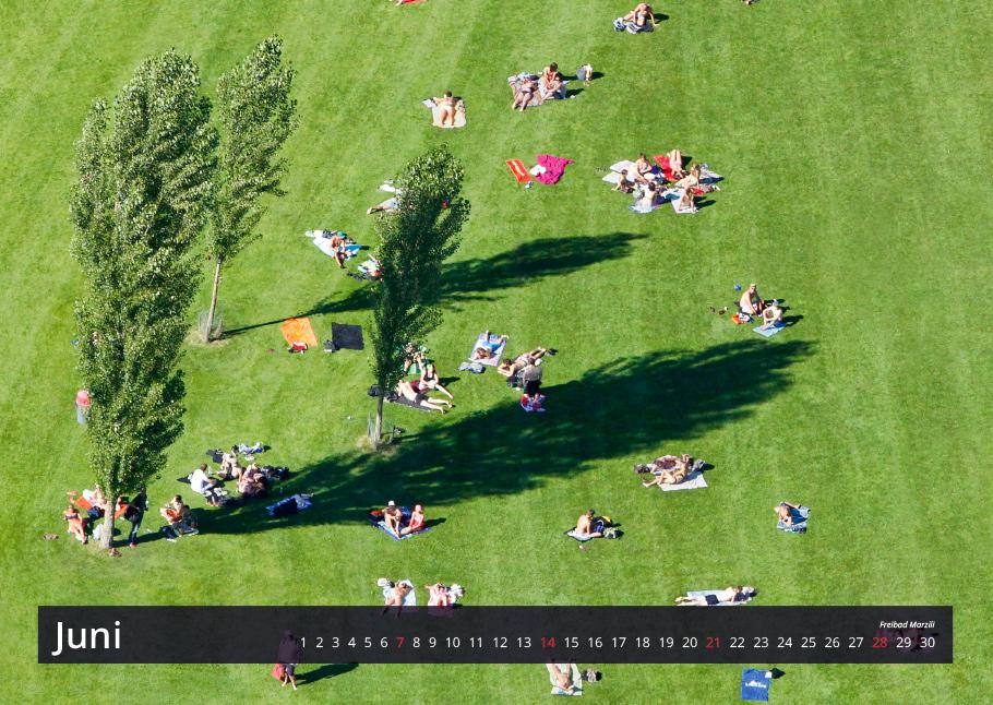 Freibad Marzili | Bern von oben-Kalender