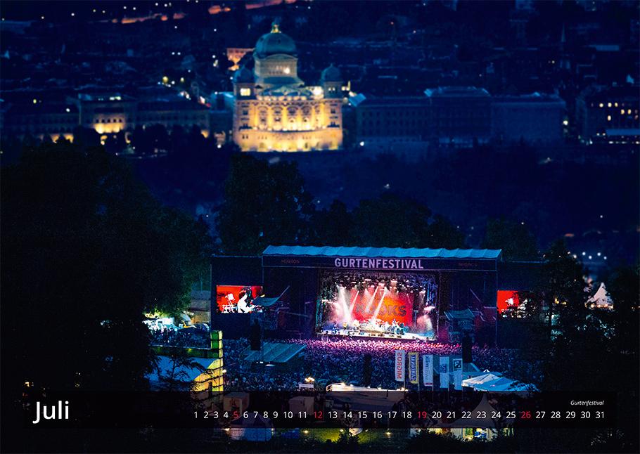 Gurtenfestival | Bern von oben-Kalender