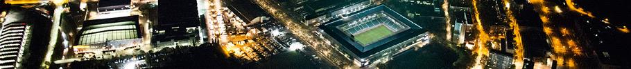 Luftaufnahmen von Bern in der Nacht