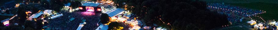 Gurtenfestival und Stadt Bern bei Nacht