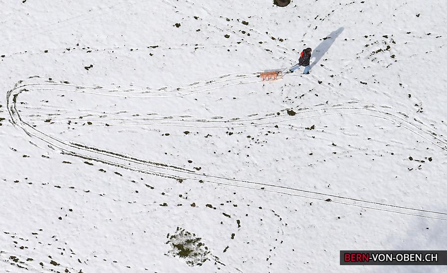Bern von oben im Winter